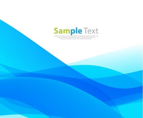 Abstract Blue Waves Design Background Vector Illustration