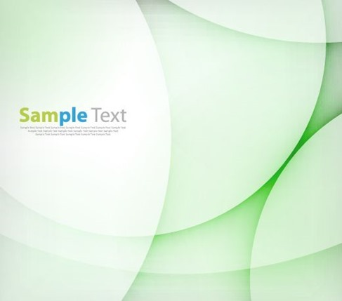 Abstract Light Green Wave Design Background Vector Illustration
