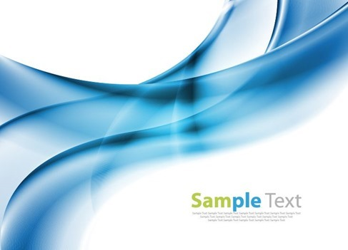 Abstract Wave Design Blue Background Vector Illustration