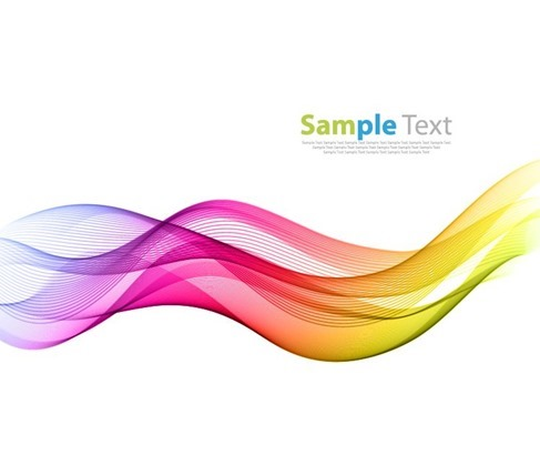 Vector Illustration of Abstract Colorful Wave Line Background