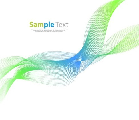 Abstract Background with Green Blue Wave Vector Illustration