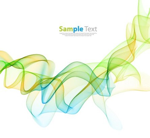 Abstract Color Wave Design Background Vector Illustration