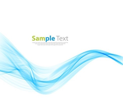 Abstract Modern Design Background with Blue Wave Vector Illustration