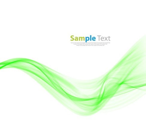 Abstract Modern Design Background with Green Wave Vector Illustration