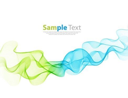 Colorful Curved Lines Background Vector Illustration