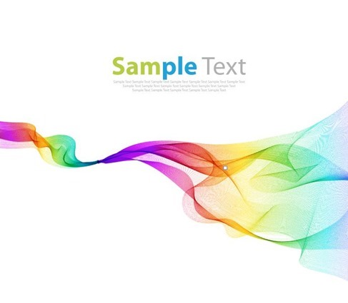 Colorful Waves Abstract Design Background Vector