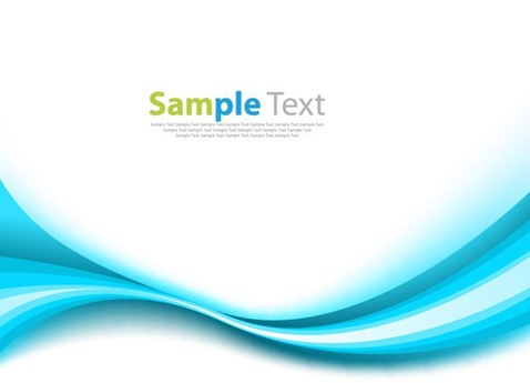 Abstract Blue Wave Vector Background Illustration
