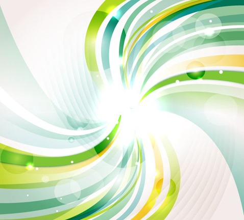 Abstract Green Swirl Bokeh Background Vector Illustration