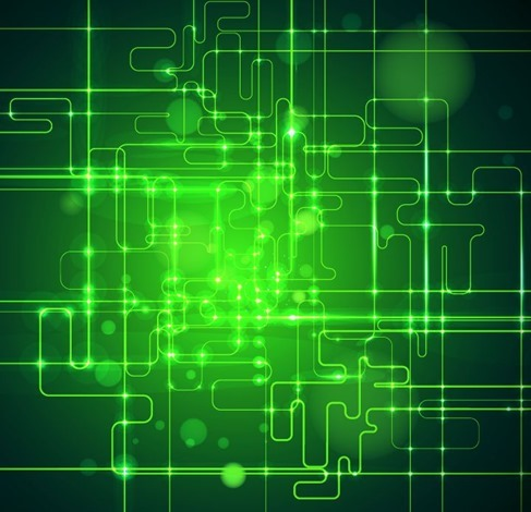 Abstract Green Technology Business Artwork Background Illustration
