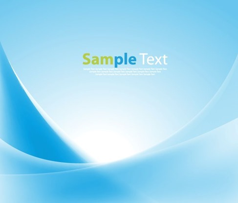 Blue Smooth Abstract Background Vector Illustration