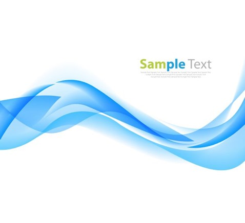 Blue Wave Abstract Background Vector Illustration