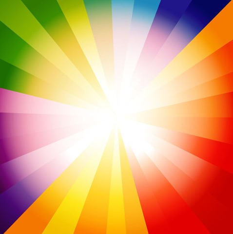 Spectrum Burst Abstract Background Vector Illustration