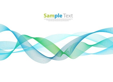 Vector Smoke Wave Line Abstract Background