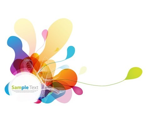 Abstract Colored Background Vector Graphic
