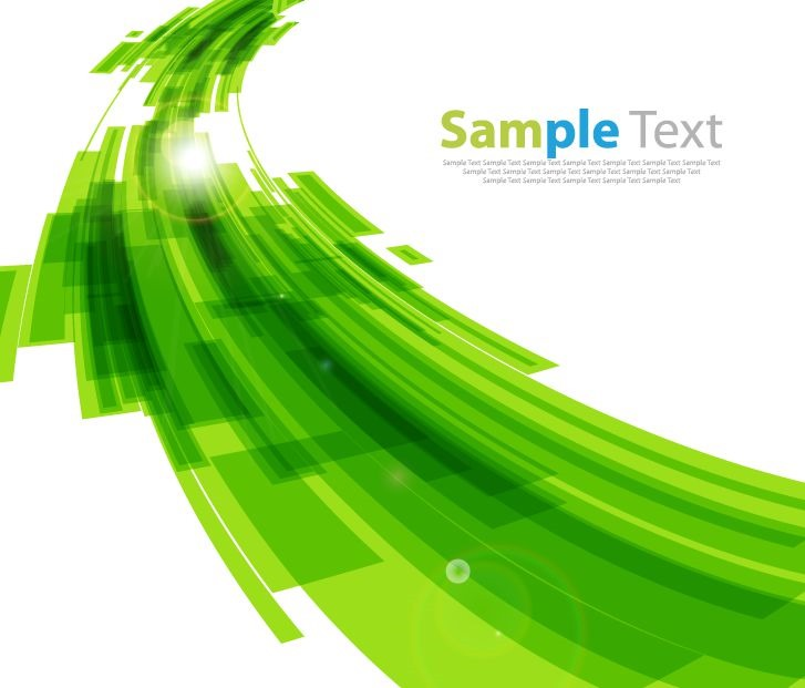 Green modern design abstract background vector Green plans