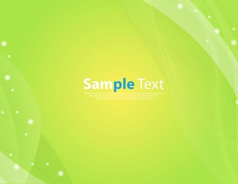 Shiny Wave Green Color Abstract Background Vector Illustration
