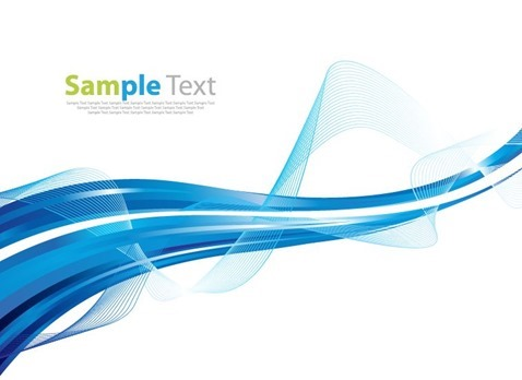 Abstract Background with Blue Waves Vector Illustration