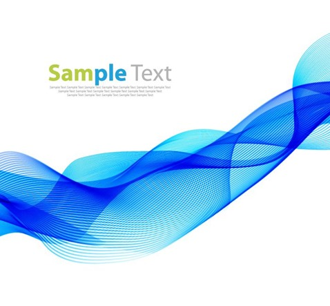Abstract Waves Design Element Background Vector Illustration