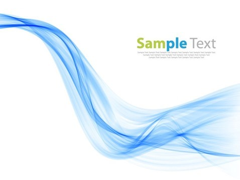 Blue Smoke Wave Background Vector Illustration
