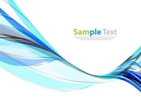 Blue Wave Design Background Vector Illustration