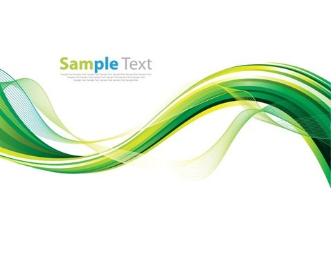 Smooth Wave Abstract Background Vector Illustration