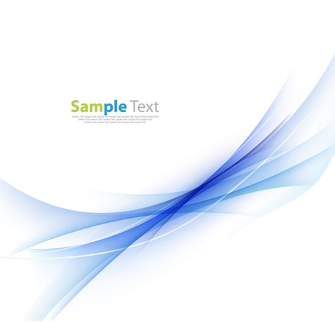 Abstract Blue Wavy Background Vector Illustration