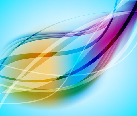 Abstract Colorful Design Curves Background Vector Graphic