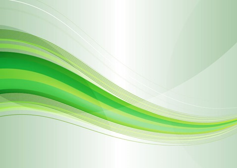 Abstract Modern Green Wave Background Vector Graphic