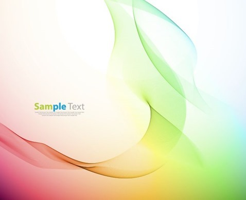Abstract Color Wave Design Vector Illustration