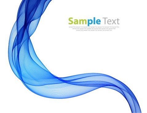 Abstract Modern Background with Blue Waves Vector Illustration