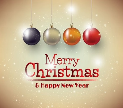 Christmas Background with Christmas Balls Vector Illustration