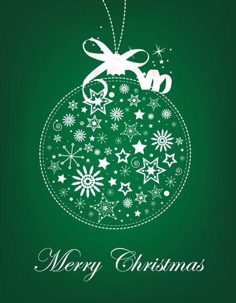 Abstract Christmas Ball Vector Illustration