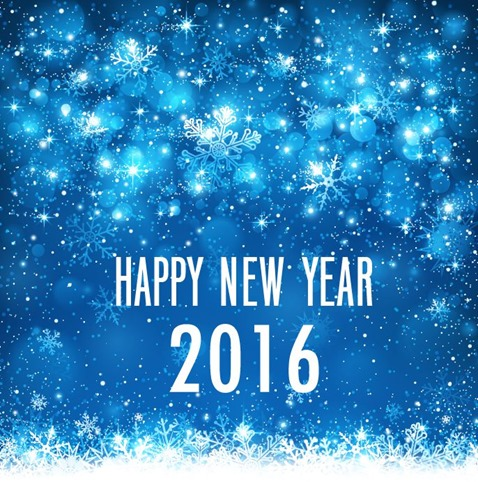 Happy New Year 2016 Vector Illustration