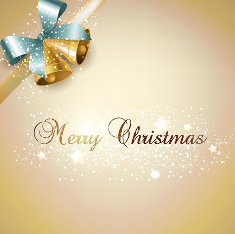 Jingle Bells Christmas Card Vector Illustration