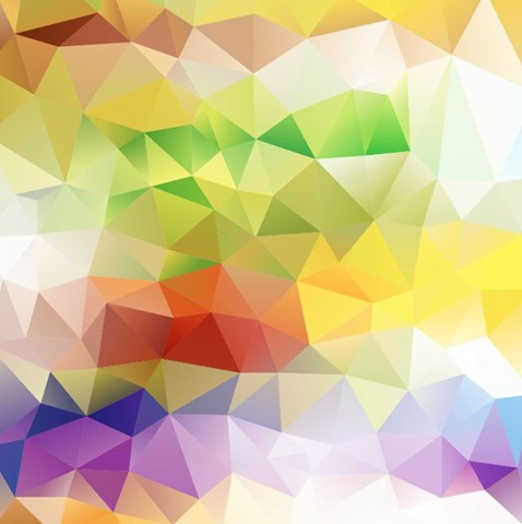 Abstract Colorful Triangle Background Vector Illustration