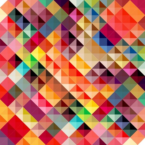 Colorful Geometric Triangles Abstract Background Vector Illustration