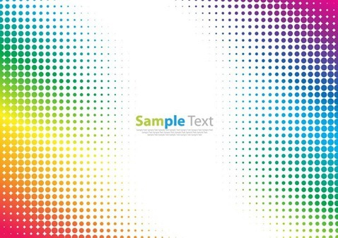 Colorful Halftone Pattern Abstract Background Vector Illustration