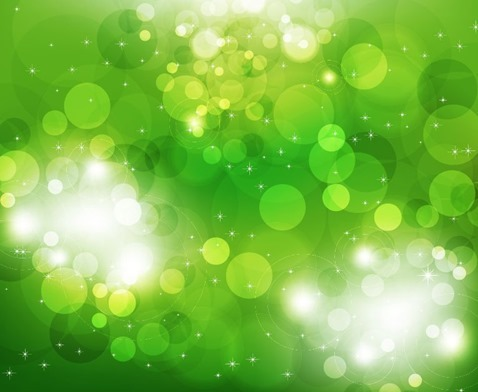 Green Glowing Glitter Abstract Background Vector Illustration