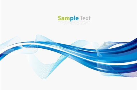 Abstract Blue Wave Design Vector Illustration