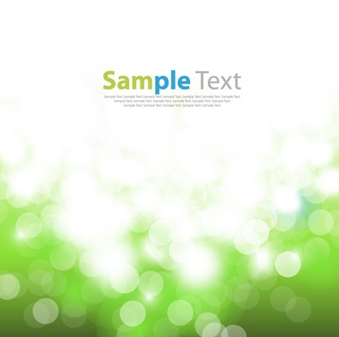 Abstract Green Bokeh Background Vector Illustration