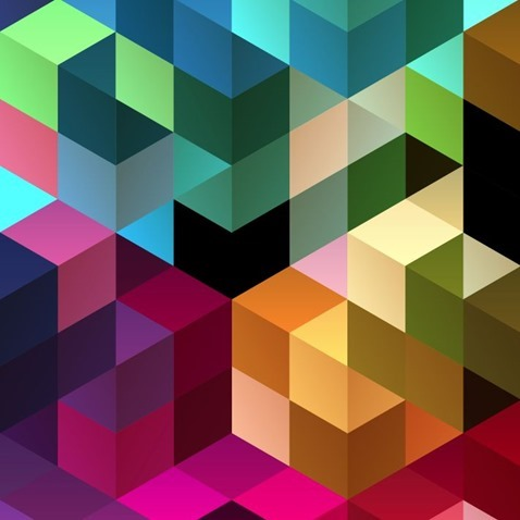 Abstract Retro Mosaic Design Background Vector Illustration