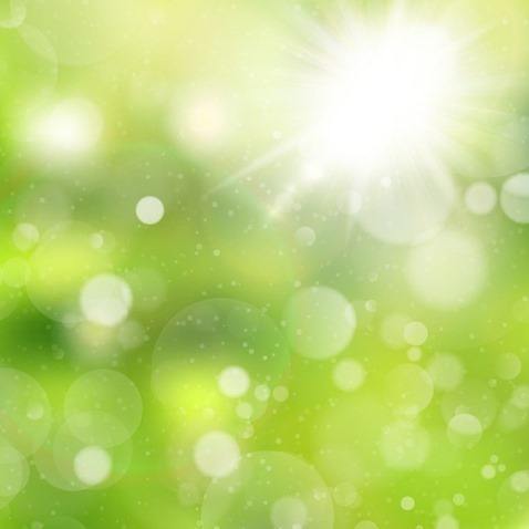 Natural Green Bokeh Background Vector Illustration