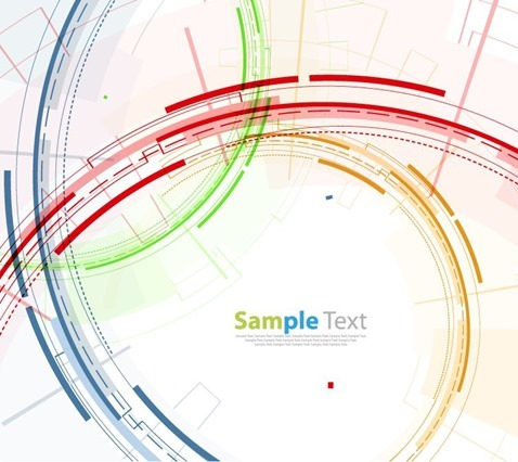 Abstract Technology Circles Background Vector Illustration