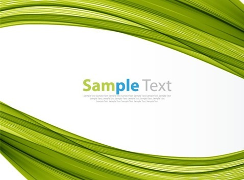 Green Background Abstract Vector Illustration