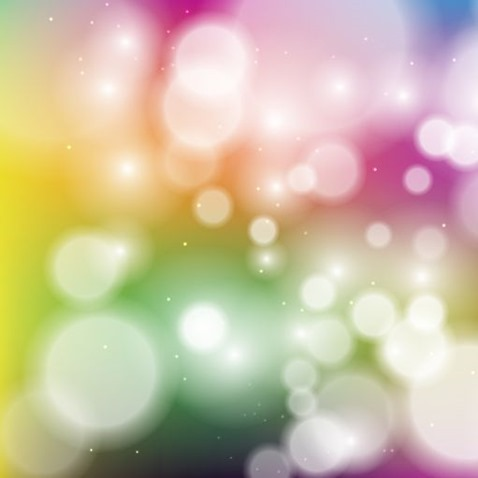Colorful Bokeh Background Vector Graphic
