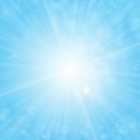 Blue Sunshine Bokeh Background Vector Illustration
