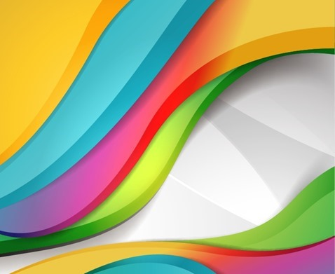 Colorful Design Wave Background
