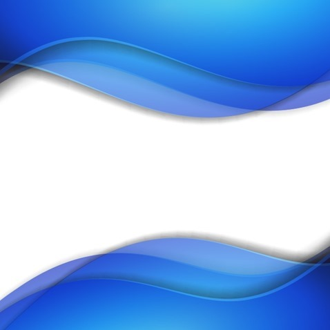 Abstract Blue Smooth Wave Vector Background