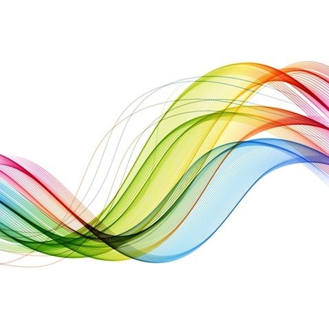 Abstract Motion Smooth Color Wave Background Vector Graphic