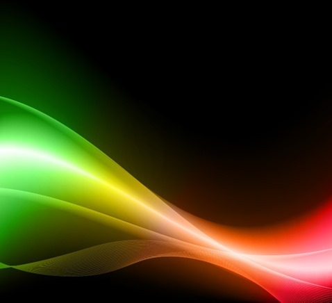 Colorful Light Wave Dark Background